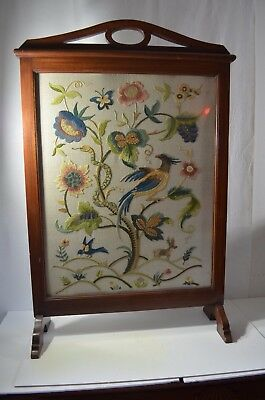 Antique Chinese Folding Panel Hand Stich