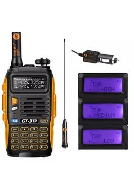 GT-3TP MKIII Dual Band Tri-power 1/4/8W Walkie Talkie And Much More
