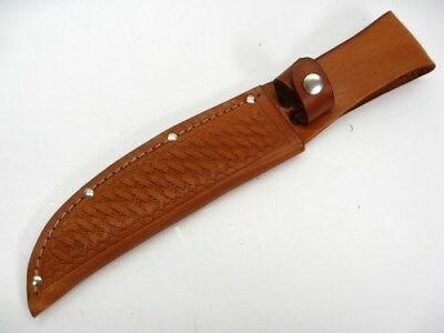 """BROWN Leather SHEATH For Straight Fixed Blade Knife Up To 6"""" Blade SH1135 New!"""