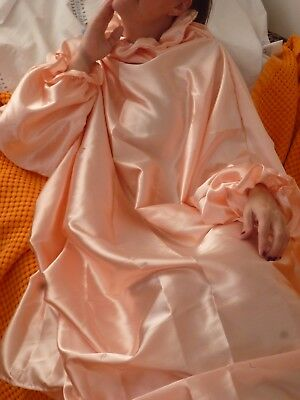 Sissy Boy strenges satin Negligee Nachtkleid XL-XXL-rosa