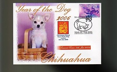 Chihuahua 2006 C/i Year Of The Dog Stamp Cover