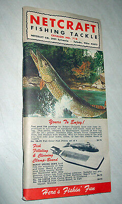Vintage Netcraft Fishing Tackle Catalog No 71B 169 Pages  7 Pictures