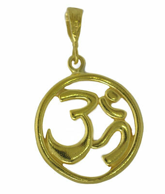NICE New HINDU OM Genuine Real 10K Yellow Gold PENDANT Charm Jewelry DETAILED Je