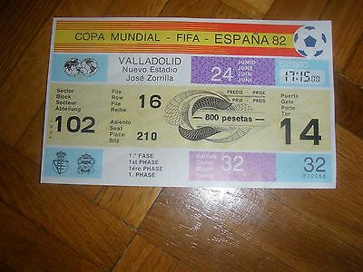 TICKET 1982 WORD CUP GAME 32 FRANCE v CZECHOSLOVAKIA UNUSED