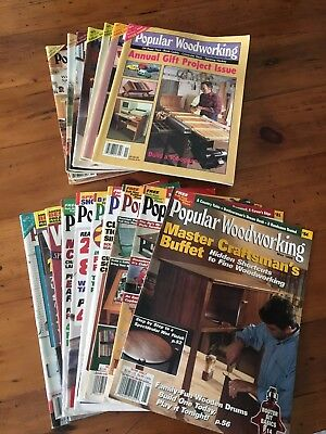Lot of 17 Popular Woodworking Magazine wood working magazines 1991 - 1998