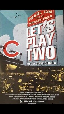 Pearl Jam Poster Let's Play Two 27x 40 Wrigley Field official movie poster