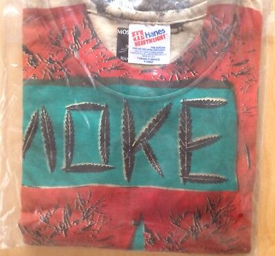 Vintage Mosquitohead Smoke It T Shirt from 1990 new old stock, unopened!!!