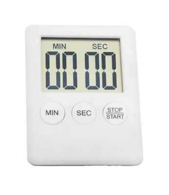 Digital Timer Square Large LCD Kitchen Sport Alarm With Magnet Grey. 0233