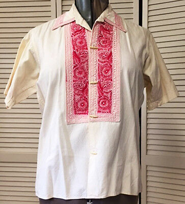 Vintage Embroidered Mexican shirt man's small or woman medium