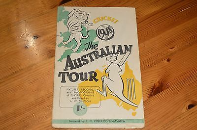 Australian Cricket Tour Of England 1948 Brochure 42 Pages Vintage Photos