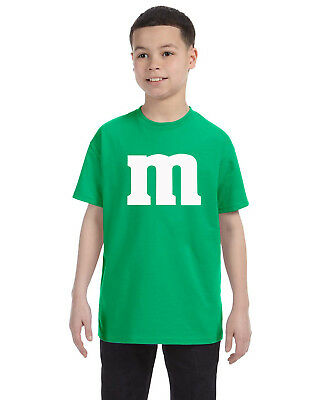 M & M Youth Tee Shirt Cheap and Easy Kids Halloween Costume Funny Unique XS-XL