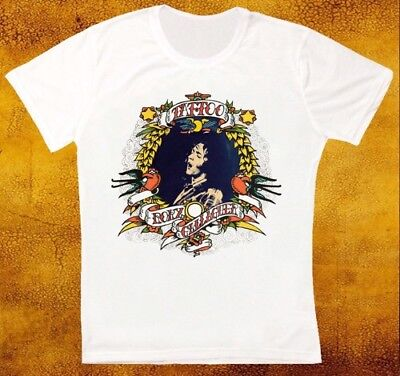 Tattoo Rory Gallagher Rock Blues Retro Vintage Hipster Unisex T Shirt 1567