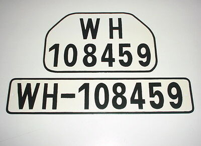 GERMAN ARMY WWII WW2 repro car vehicle truck license number plate set  WH-108459
