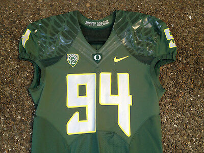 Nike Oregon Ducks Football Authentic Team Game Jersey Green Size 46