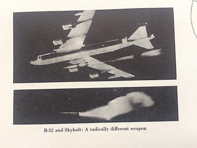 4/19//62 Operation Skybolt Ballistic Missile Launch from B-52: photo cachet