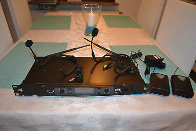 "IMG Stage Line TXS 890 Dual Headset System Diversity, 19"" Rackmount, Top Zustand"