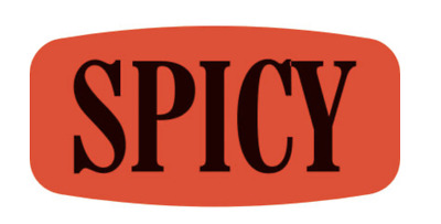Spicy Merchandise Labels 1000 Per Roll Fl Red Sticker