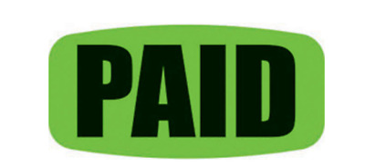Paid Green Black Labels 1000 Per Roll Great Stickers
