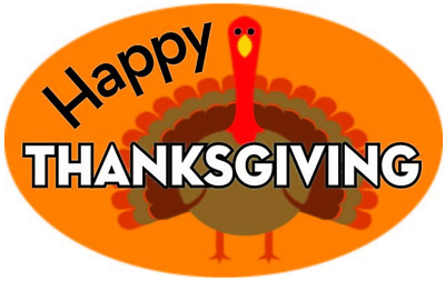 """2"""" X 1"""" Happy Thanksgiving Labels 500 Per Roll Great Stickers"""