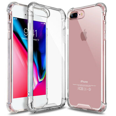 Hybrid Shockproof Clear TPU Bumper Cover For iPhone 8 Plus Case