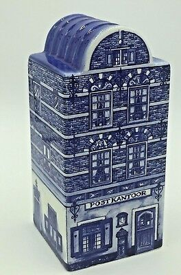 Delft Blue Holland Hand Painted Canal House Post Kantoor