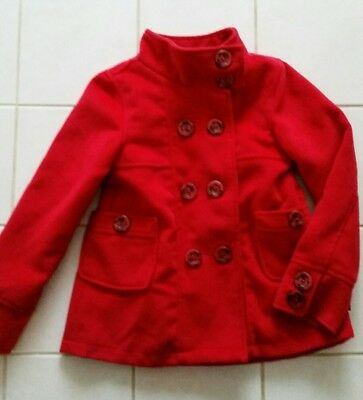 Girls size 7 RED coat by Pumpkin Patch - EUC