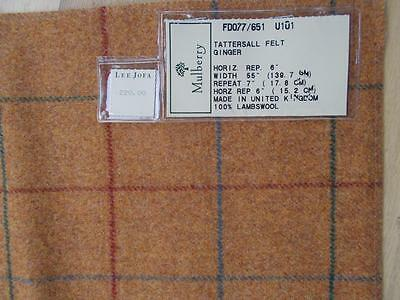 """Lee Jofa $220 yd sample HIGH END UPHOLSTERY FABRIC LAMBSWOOL 26"""" square UK PLAID"""
