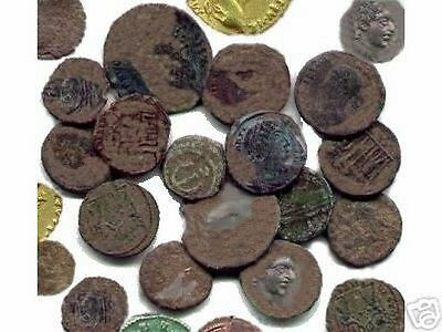 10 Lot of HIGH Quality Ungraded and Uncleaned Roman coins With Bonus  !!