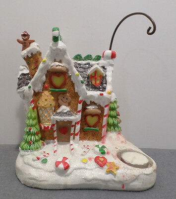Christmas Candle Holder Ginger Bread House
