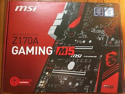 MSI Z170A  M5 GAMING Motherboard - Intel - Socket H4 LGA-1151 ETH/Zcash Mining