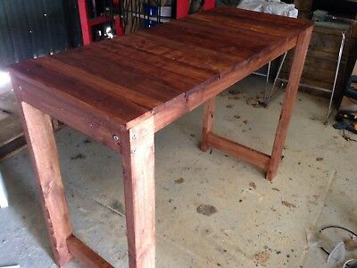 Recycled Timber Kitchen Island Bench Rustic Hand Made Delivery