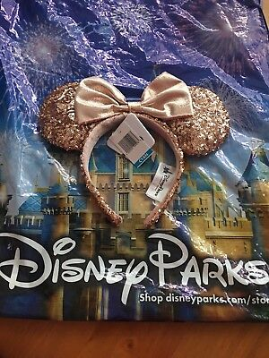 SOLD OUT!! Minnie mouse AUTHETIC Rose Gold Ears Nwt