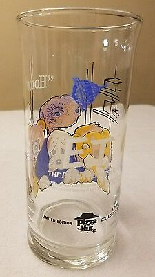 Vintage 1982 Pizza Hut E.T. Drinking Promotional GLASS Collectible