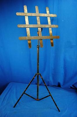 vtg industrial gothic Metal Floral  Flower Funeral Mortuary Stand Rack Holder