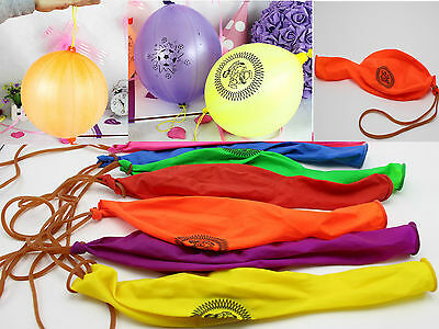 12Pcs Mixed Color Latex Balloons Punch Balls Birthday Party Favors