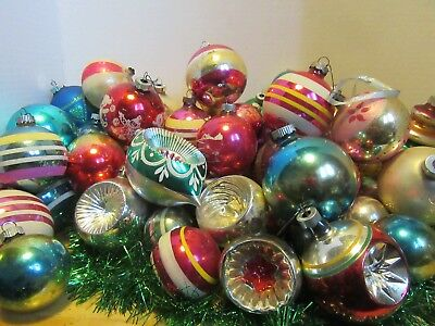 70 +Vintage Glass Christmas Ornaments,Shiny Brite, Poland, Italy and more.