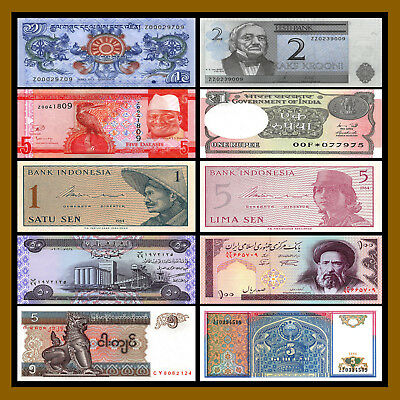 10 Pcs of Different World Mix (Mixed) Replacement (Z) Banknotes Currency Lot Unc