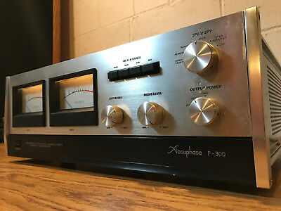 Restored Vintage Accuphase P300 Amplifier w/ Manuals