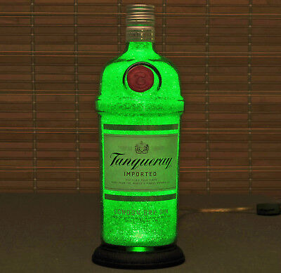 Tanqueray Gin Lighted Bottle lamp Night Light 50,000 hour LED Man Cave England