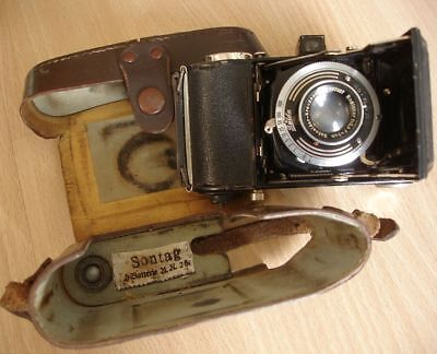 WW2 GERMAN PHOTO CAMERA FROM SOLDIER NAME UNIT ID-ed, SCARCE !