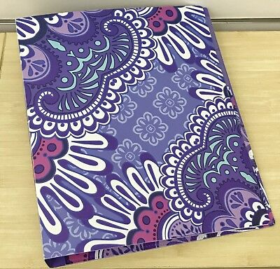 Vera Bradley Lilac Tapestry Flexi Three Ring Binder with Tabbed Dividers