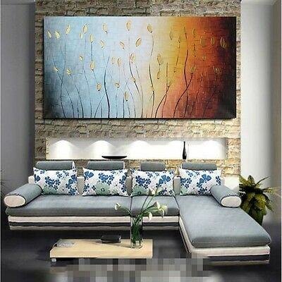 Large Abstract Leaves Art Canvas Painting Print Picture Wall Home Decor No Frame