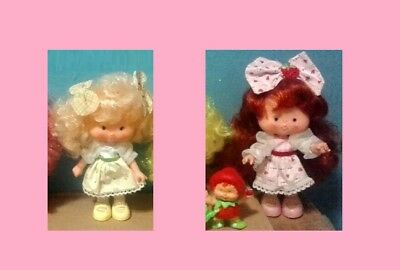 Strawberry Shortcake Berrykins lot of 3 - Banana Twirl and Strawberry + critter