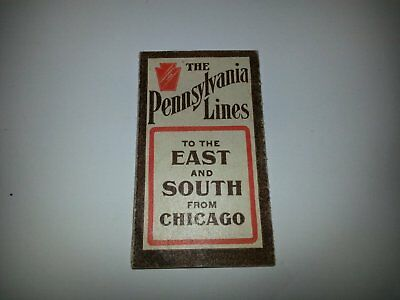 PRR Pennsy RR Pennsylvania Lines 1907 RR Timetable From Chicago Time Table