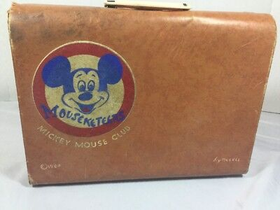 Vintage Mickey Mouse Club Mouseketeers Suitcase By Neevel Walt Disney Production