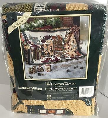 Dept 56 Dickens Village Series 1st in Series Town Square Triple Woven Throw NEW