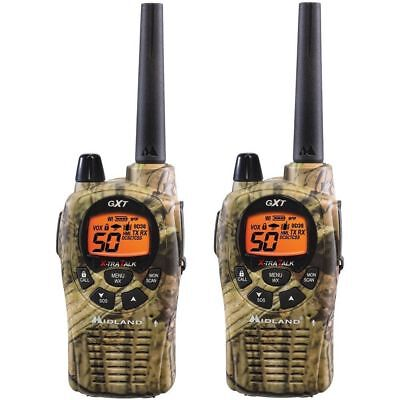 Two 2 Way Radio Walkie Talkie 36 Mile Frs/gmrs Pair Camo New !!