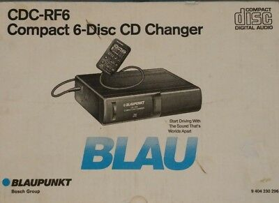 New in Box! Blaupunkt CDC-RF6 6 Disc CD Changer - Manual + Remote - Untested