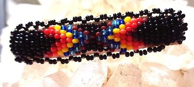 Vintage Native Beaded Beadwork Hair Clip Barrette