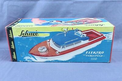 Vintage Battery Operated Schuco Elektro Nautico 5550 Boat With Box Works!!!!!!!